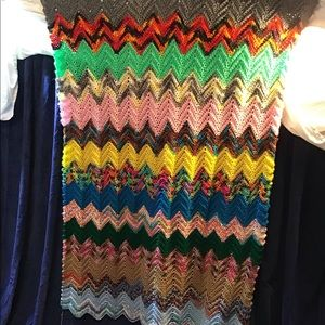 "Beautiful hand knitted blanket/throw, 45"" x 60""EUC"